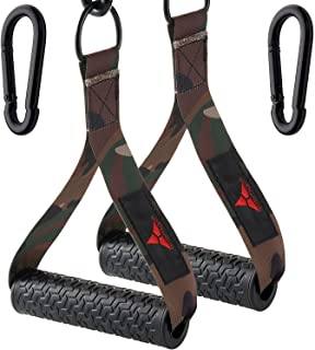 allbingo Military Resistance Band Cable Machine Handles,Excellent Ultra Heavy Duty Exercise Handle Rubber Grips with Large...