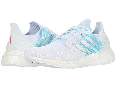 adidas Running Ultraboost 20 (White/Silver Metallic/Sky Tint) Women