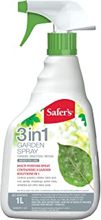 Safer's 49-5470CAN 3-in-1 Garden Spray 1L Ready-to-Use Spray
