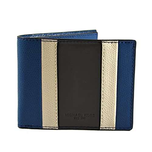 7a4a6d2bc560e Michael Kors Warren Saffiano Leather Mens Slim Billfold Striped Wallet