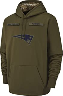 Dunbrooke Apparel Men's New England Patriots Therma Fit Pullover Salute to Service Hoodie