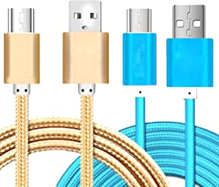 AIJIE Android Charger Cable Suitable for Android,Black,2m Nylon Braided USB 2A Fast Charge Overcharge Battery Protection