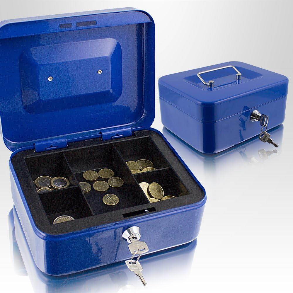 15.24 cm schwere Metall-Geldkassette abschlie/ßbar Petty Geldbeutel f/ür M/ünzen und Geldscheine Sicherheit,