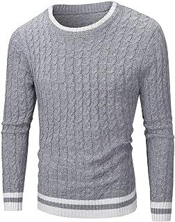 Maglione Lavorato a Maglia da Uomo Girocollo Elegante Pullover Slim Fit Uomo Basic Manica Lunga Sweaters Lavorato a Maglia...