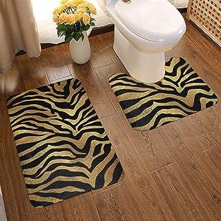 "Details about  /Elephant Bathmat African Wildlife in Forest Decor Bathroom Rug Non-Slip 16x24/"""