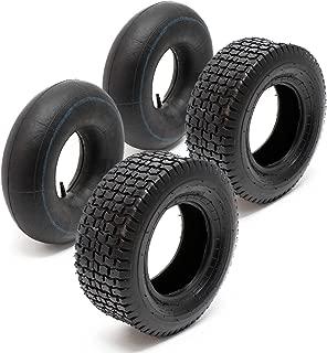2x c/ámara aire rueda segadora jard/ín cortac/ésped podadora 11x4.00-5 v/álvula angular