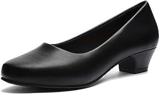 GUCHENG Chunky Heels Pumps Low Shoes Women's - Dress...