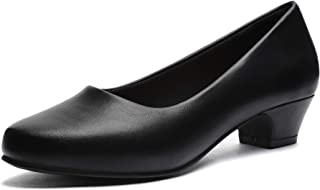 Women's Dress Low Heels Shoes Pumps Chunky Heel...