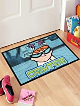 Saral Home Dexters Laboratory Kids Anti-Skid PP Mat - (Turquoise, 40x60 Cms)
