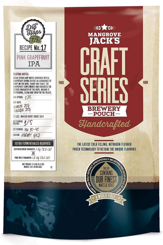 Mangrove Jack 's 40 Pinta (23L) Craft Series American IPA & Dry Hops Home Brew Beer Kit