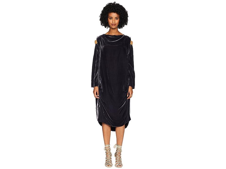Vivienne Westwood - Vivienne Westwood Fatima Cold Shoulder Long Sleeve Velvet Dress