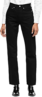 Calvin Klein Women's High Rise Straight Fit Jeans
