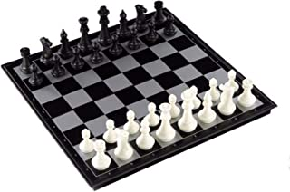 HUOGUOSHU Magnetic Chess Set, 3-In-1 Magnetic Chess/Checkers/Backgammon Game Chess, Suitable for Adults and Children, A Ne...