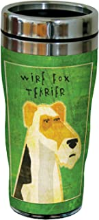 Tree-Free Greetings sg23992 Wire Fox Terrier by John W. Golden 16-Ounce Sip 'N Go Stainless Steel Lined Travel Tumbler