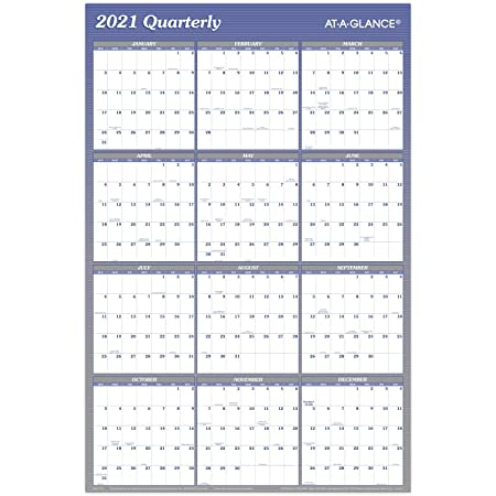 Details about  /2021 Annual Wall Planner Calendar Year Yearly Plan Chart NON-LAMINATED BLUE