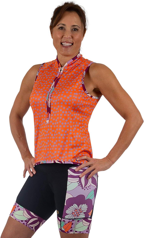 SHEBEEST Womens Bellissima Sleeveless Cycling//Biking Jersey