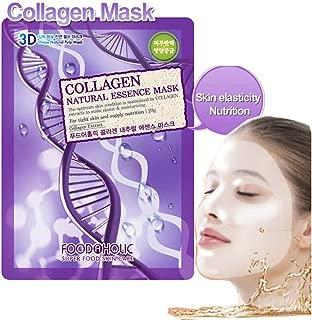 [Food A Holic] 3D Shape Natural Essence Pulp Mask(23g X30ea) Korean Made/Collagen (mask pack 30ea)
