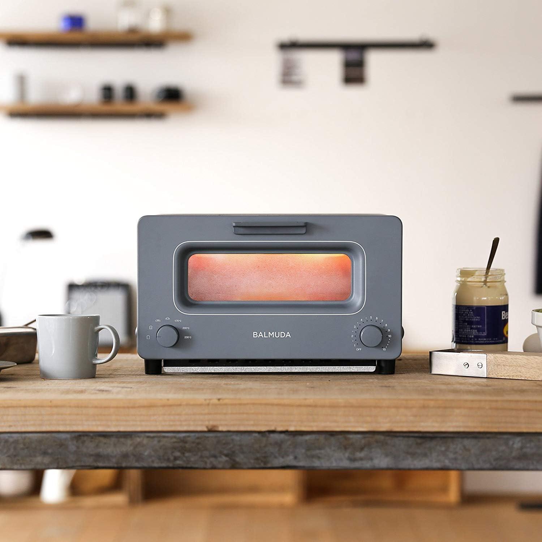 バルミューダ スチームオーブントースター BALMUDA The Toaster K01E-GW(グレー)