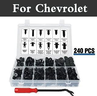 Chenghuaguo 240pcs Bumper Clips Car Plastic Rivets Fasteners Push Retainer Kit Fits for Chevrolet Corvette Cruze Epica Evanda Impala Kalos