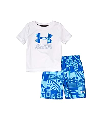 Under Armour Kids Delayed Volley Set (Toddler) (White) Boy