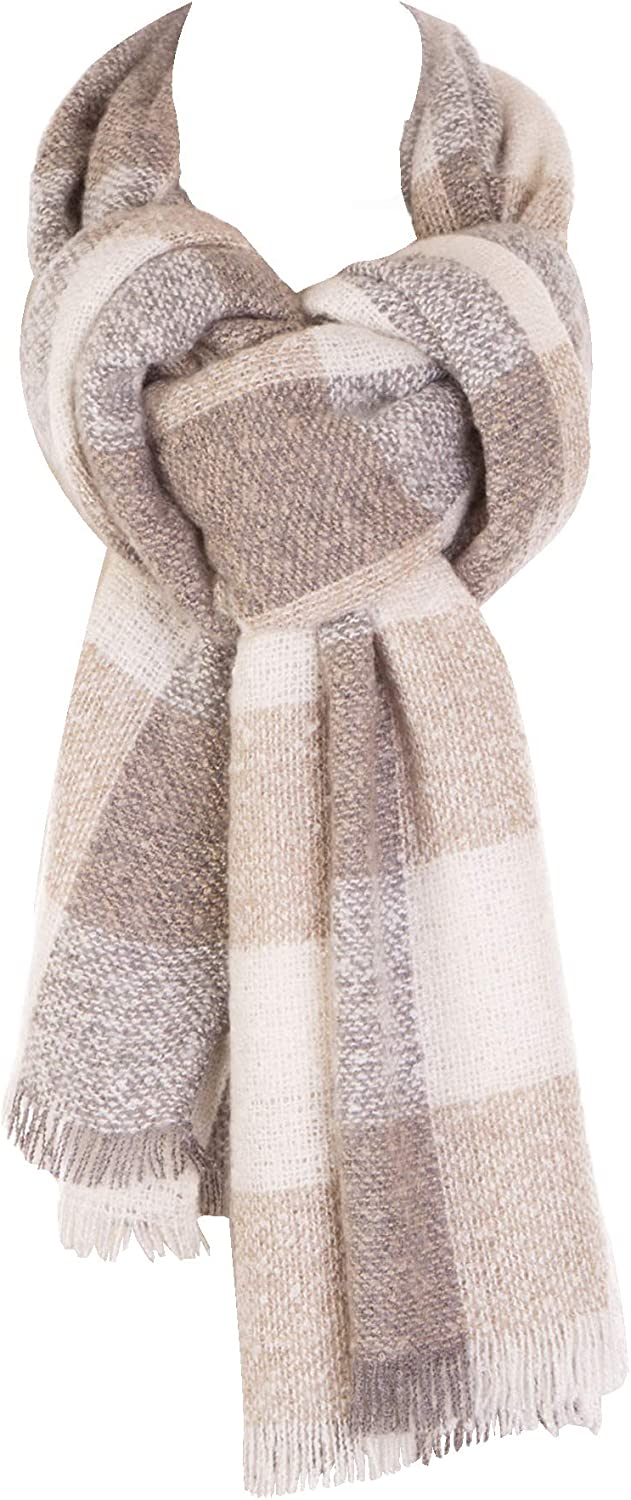 Women Plaid Scarf blanket Checked Print Leopard Scarves Sh El 67% OFF of fixed price Paso Mall Wraps
