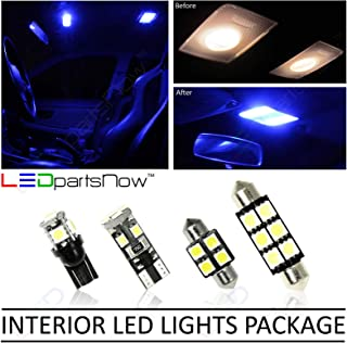 LEDpartsNow Interior LED Lights Replacement for 2017-2018 Fiat 124 Spider Accessories Package Kit (4 Bulbs), BLUE
