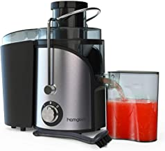 Homgeek Juicer, Juicer Machines with 3'' Wide Mouth, Dual Speed Centrifugal Juicer with Anti-Shake Design, Easy to Clean, BPA-FREE