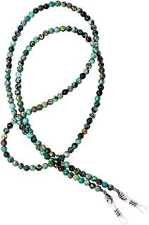 Beaded Eyeglass Chain Sunglasses Holder Necklace Gemstone Amazonite Agate Jasper Lapis Pearl RC