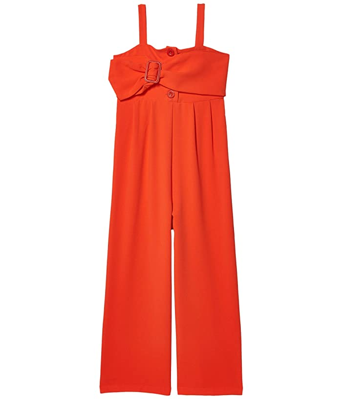 HABITUAL girl  Harlow Crepe Jumpsuit with Belt (Big Kids) (Orange) Girls Jumpsuit and Rompers One Piece