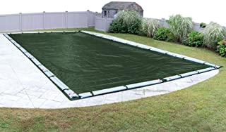 Pool Mate 321636R-PM Heavy-Duty Winter In-Ground Pool Cover, 16 x 36-ft, Grass Green