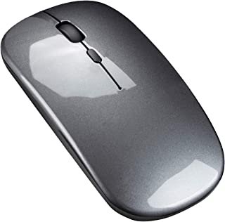 ZeroPlusOne® Bluetooth Rechargeable Wireless Mouse Ultra-Thin 2.4Ghz Mute Computer Mouse Mini Portable Office Mobile Mouse...