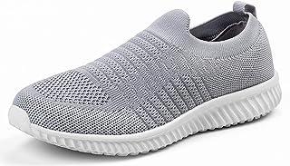Akk Walking Shoes for Women - Slip on Memory Foam Lightweight Sneakers