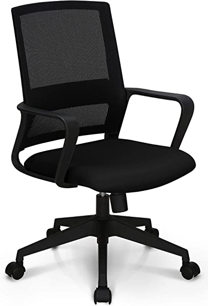 Neo Chair Managerial Office Chair Conference Room Chair Desk Task Computer Mesh Home Chair W Armrest Ergonomic Lumbar Support Swivel Adjustable Tilt Mid Back Wheel Study Mesh Black