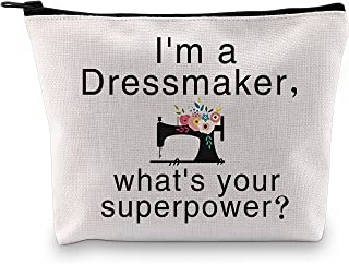 POFULL Seamstress Dressmaker Gifts Sewing Gifts for Designer Quilting Cosmetics Bag I'm a Dressmaker What's Your Superpowe...