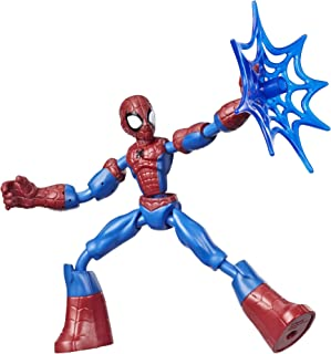Hasbro Spider-Man Marvel Bend and Flex Action Figure Toy, 15-cm Flexible Figure, Includes Web Accessory, For Children Aged...