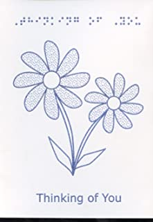 Braille and Tactile Greeting Card: Thinking Of You