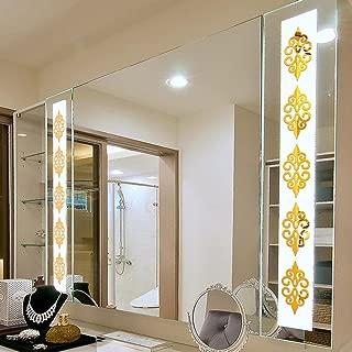 YJYDADA Wall Sticker,3D DIY Room Decoration Specchio Acrylic Wall Sticker Modern Stickers Decoration (Gold)