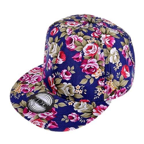 f9065049777 ZLYC Women Fashion Floral Print Adjustable Casual Snapback Baseball Cap Hat