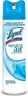 Lysol Neutra Air Sanitizing Spray, Fresh Breeze, 120oz (12X10oz), Air Freshener, Odor Neutralizer