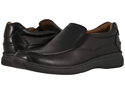 Florsheim Great Lakes Moc Toe Slip-On (Black Smooth) Men