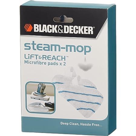 BLACK+DECKER Accessoires pour balais vapeur, 2 patins en microfibre pour tête Delta, Compatibles avec balais vapeur BLACK+DECKER dotés d'une tête Delta, FSMP30-XJ
