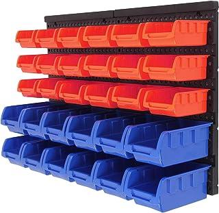 Lot de 30 bacs de rangement muraux en plastique empilables MultiWare