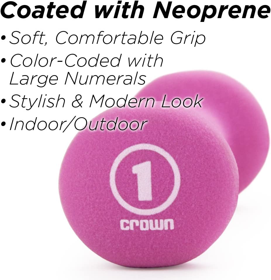 Crown Sporting Goods SWGT-001.002.003.101 of Neoprene Sprint Hand Weights (Set of 3) : Sports & Outdoors