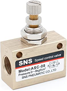 Baomain Pneumatic Flow Speed Control Valve ASC-08 one way two position female to female PT1/4