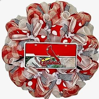 st louis cardinals deco mesh wreath