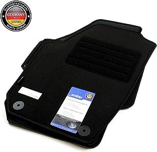 SKODA RAPID 2012 partir sur mesure tapis de voiture noir avec bordure bleue