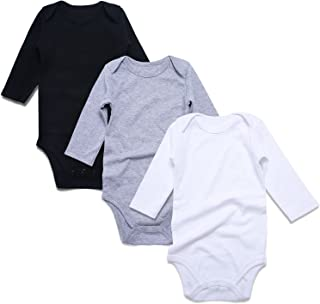 ROMPERINBOX Unisex Solid Multicolor Baby Bodysuits 0-24 Months