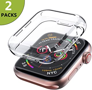 iMieet [2 Pack] Compatible Apple Watch Case 44mm Series 4, New Enhanced Soft TPU Screen Protector All-Around Protective 0.3mm HD Clear Ultra-Thin Cover Case for iWatch Series4 44mm 2018 Released