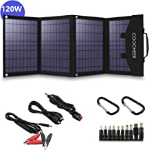 COOCHEER Solar Charger 120W Portable Solar Panel Foldable for Power Station Generator and Laptop Tablet GPS iPhone iPad Ca...
