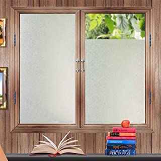 Bloss PVC Privacy Simple Opaque Frosted Static Cling Window Film Bedroom Bathroom Frost Glass Window Film Sticker (17.7-by-78.7 Inch)